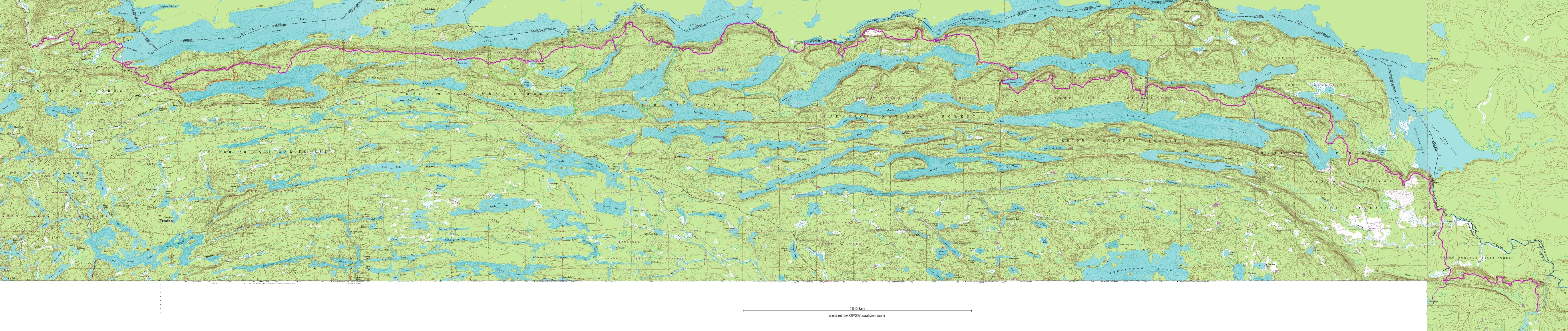 this map is not suitable for navigation purposes. border route trail  maps